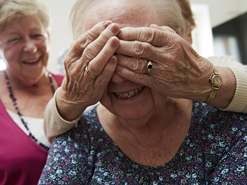 Spass im Seniorenheim